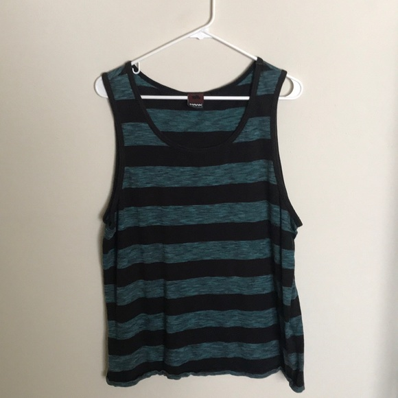 57b63f268f539b Teal and black striped tank top. M 5aa692072c705d8278b5a716. Other Shirts  you may like. Tony Hawk men s ...